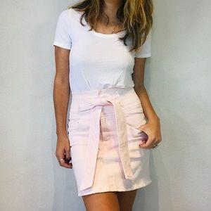 NWT Rebecca Minkoff light pink denim reto skirt